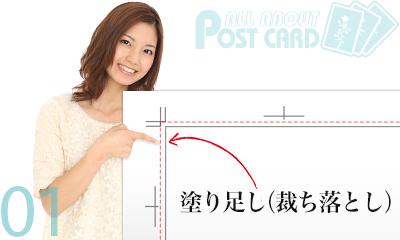 フチなし印刷には塗り足し必須!ポストカードのサイズ設定ルール