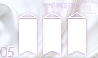 安いテトロン、強いターポリン等。タペストリー生地の種類と特徴